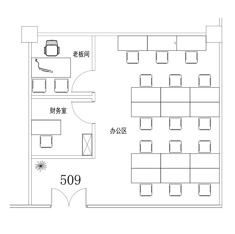 深圳虚拟大学园147㎡精装办公室出租9555元/月