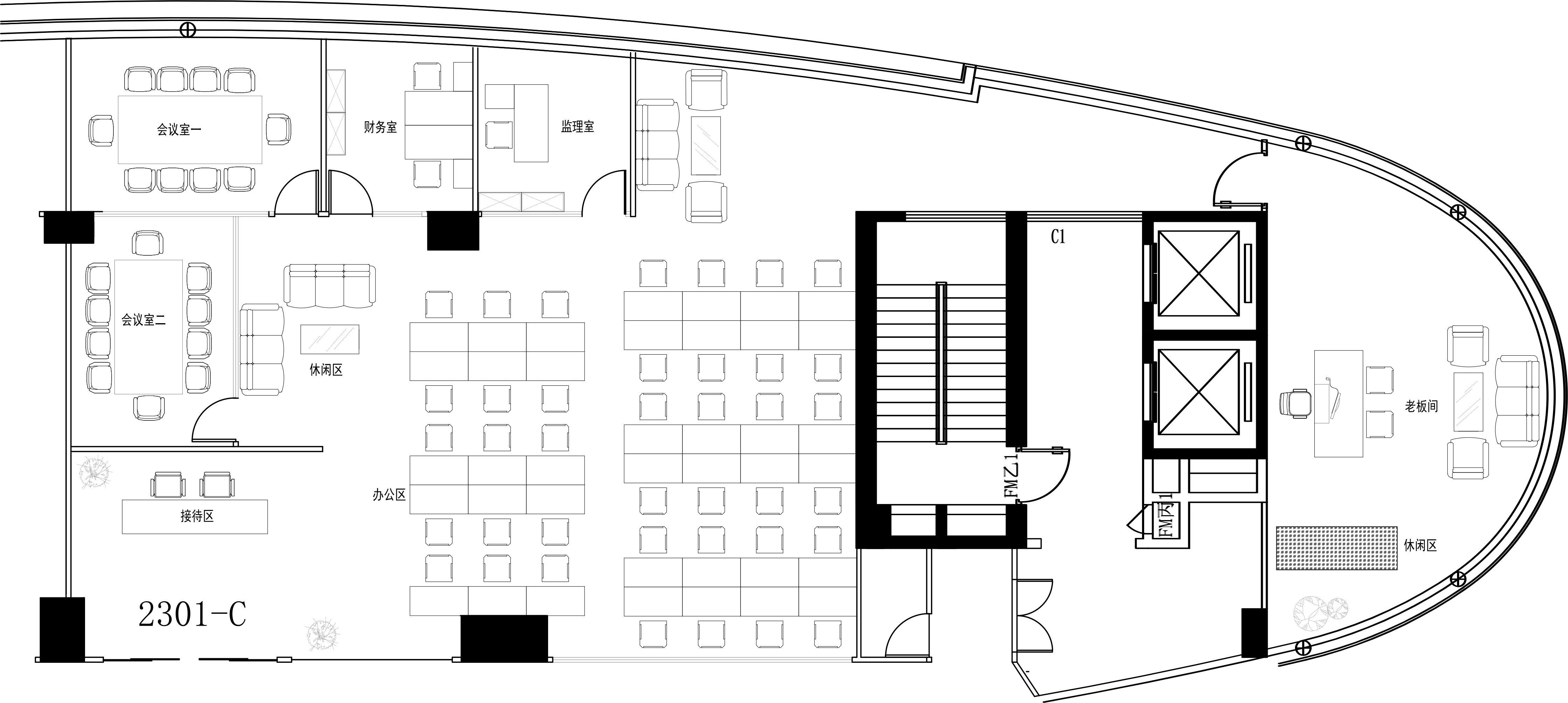 智慧广场625㎡精装办公室出租53750元/月