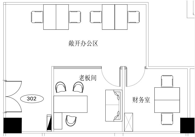南山云谷创新产业园-山水楼123㎡精装办公室出租6150元/月