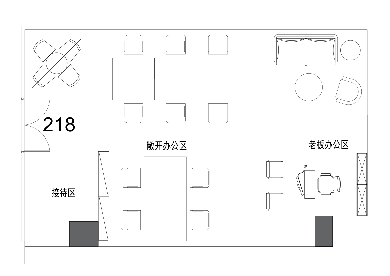 南山云谷创新产业园-山水楼157㎡精装办公室出租7850元/月