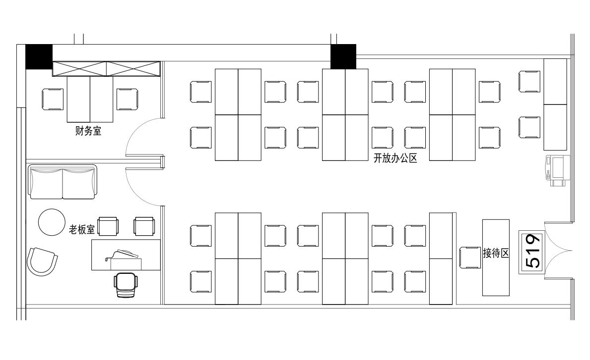 深圳虚拟大学园254㎡精装办公室出租16510元/月