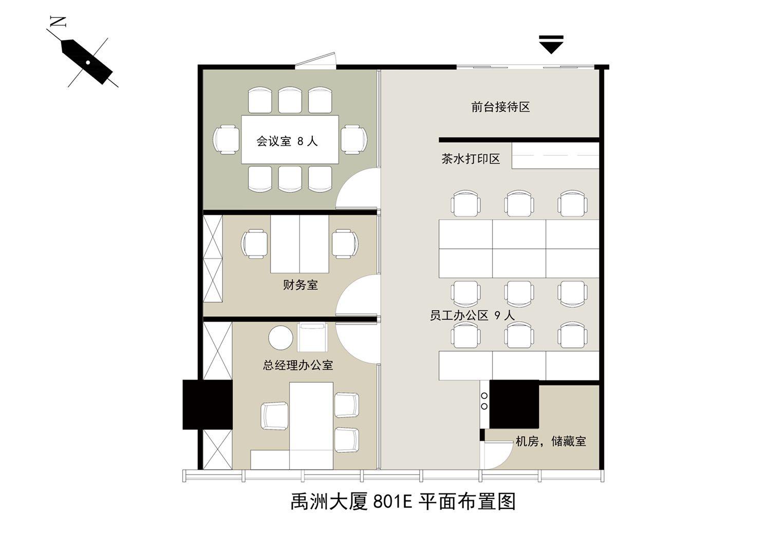 禹洲广场135m²办公室出租0元/月
